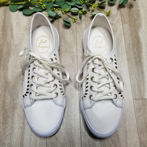White Sneakers With Gold Trim | Poshmark